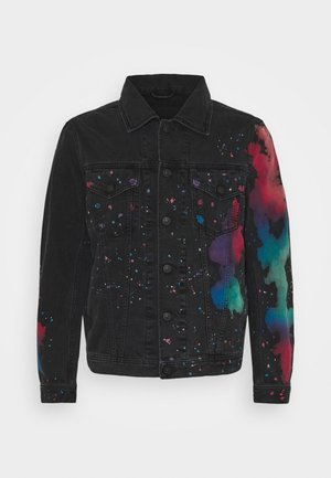NHILL-C-SP GIACCA - Denim jacket - black/ multicolour