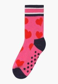 Happy Socks - KIDS BIRDS/HEART 2 PACK - Socks - purple/light pink - 1