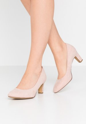 COURT SHOE - Tacones - rose