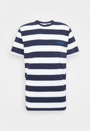 OLEI STRIP TEE - T-shirt print - navy/mint