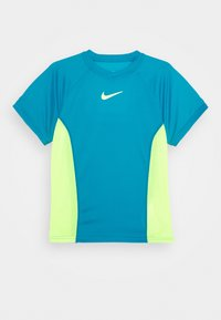 Nike Performance - DRY - Print T-shirt - neo turq/volt - 0