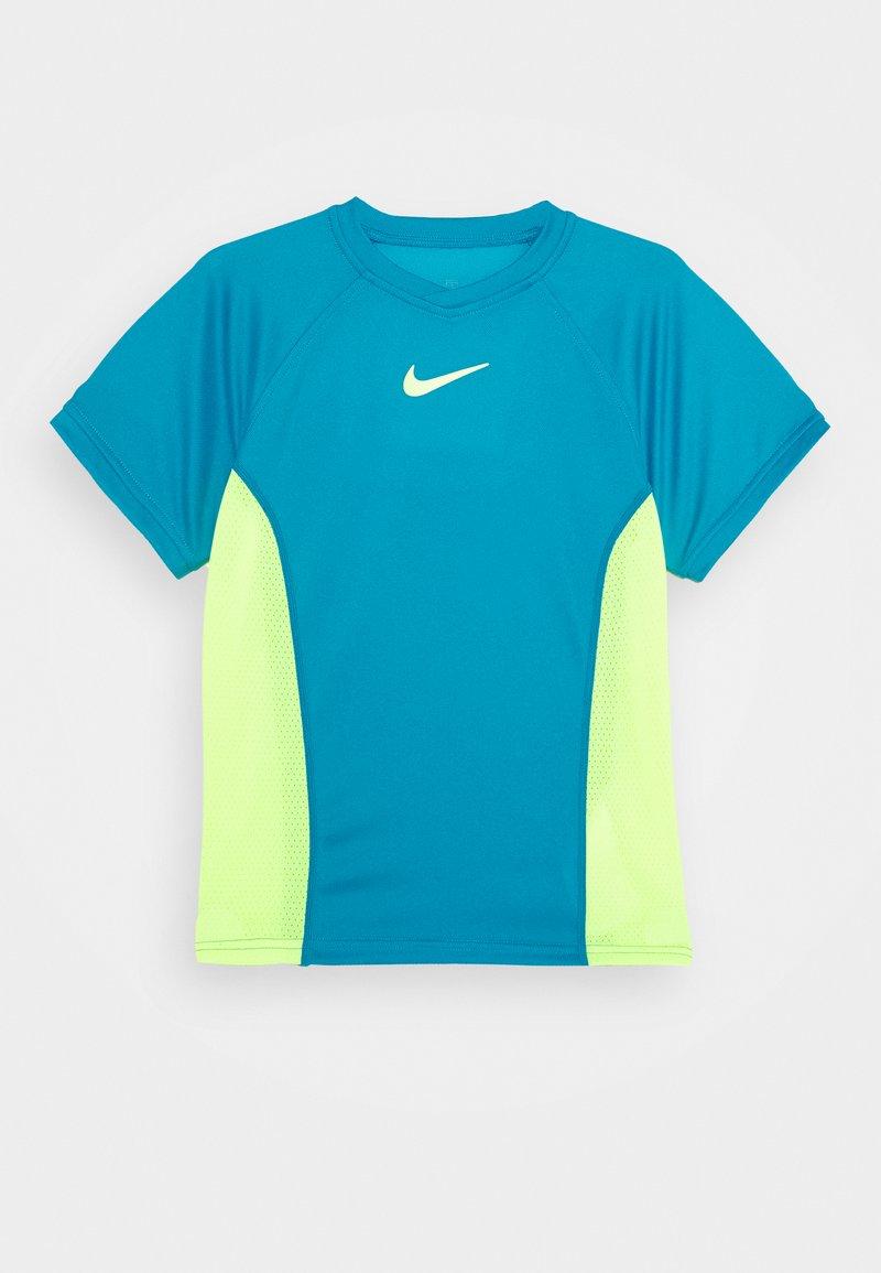 Nike Performance - DRY - Print T-shirt - neo turq/volt