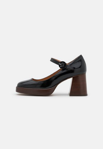 BOUBOU - Escarpins à plateforme - brillant noir
