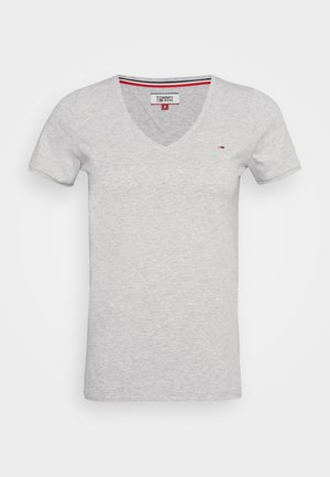 SHORTSLEEVE STRETCH TEE - Camiseta básica - light grey heather