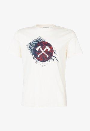 SEILE - Print T-shirt - bright white prt