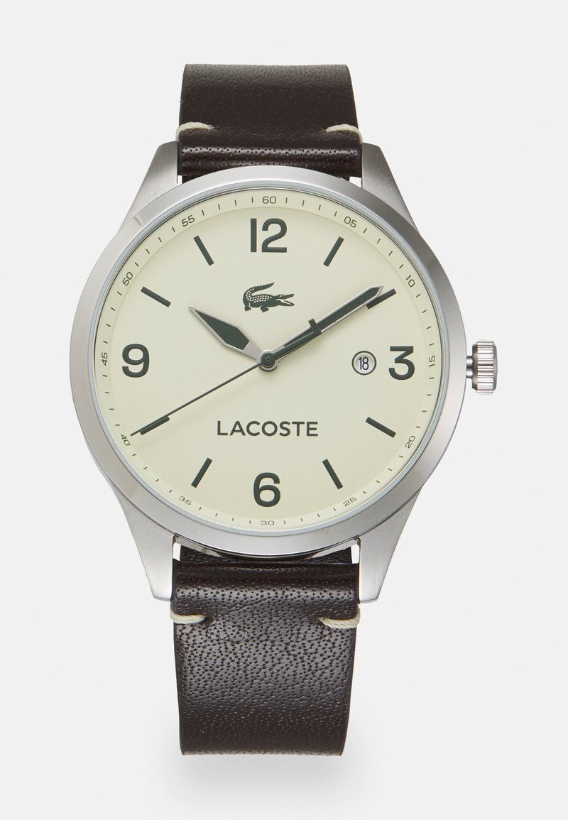 Lacoste - TRAVELER - Hodinky - brown/crème