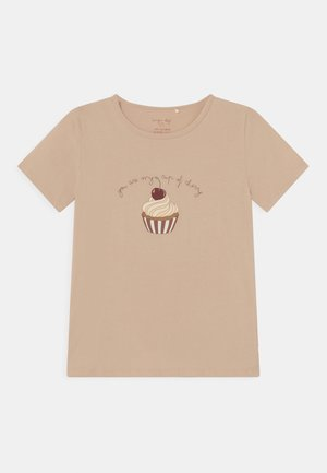 FAMO TEE - Print T-shirt - beige