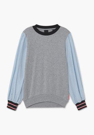 LOOSE WOVEN SLEEVES - Long sleeved top - grey