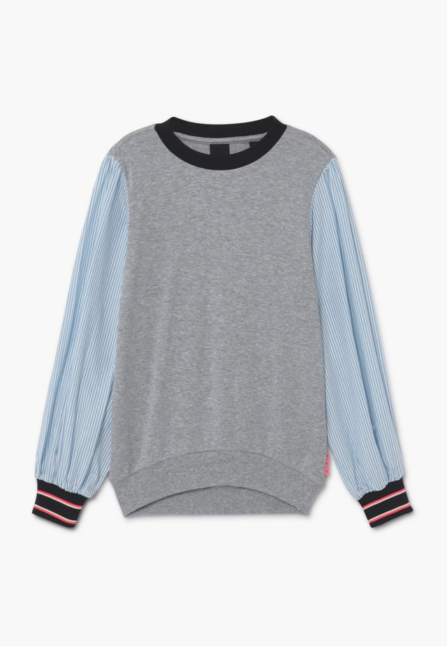 LOOSE WOVEN SLEEVES - Camiseta de manga larga - grey