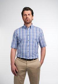 Eterna - COMFORT FIT - Shirt - beige/blau - 0