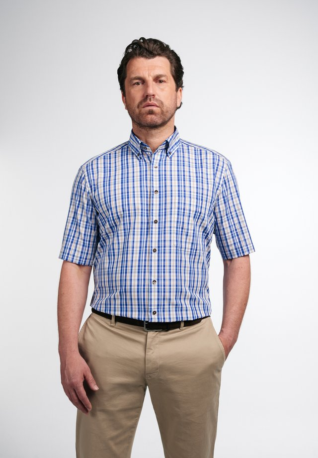 COMFORT FIT - Shirt - beige/blau