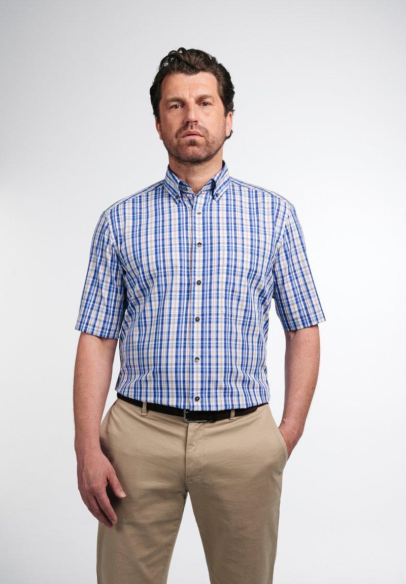 Eterna - COMFORT FIT - Shirt - beige/blau