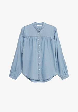 Button-down blouse - azul claro
