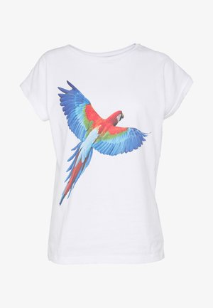 VISBY PARROT WINGS - T-shirts med print - white