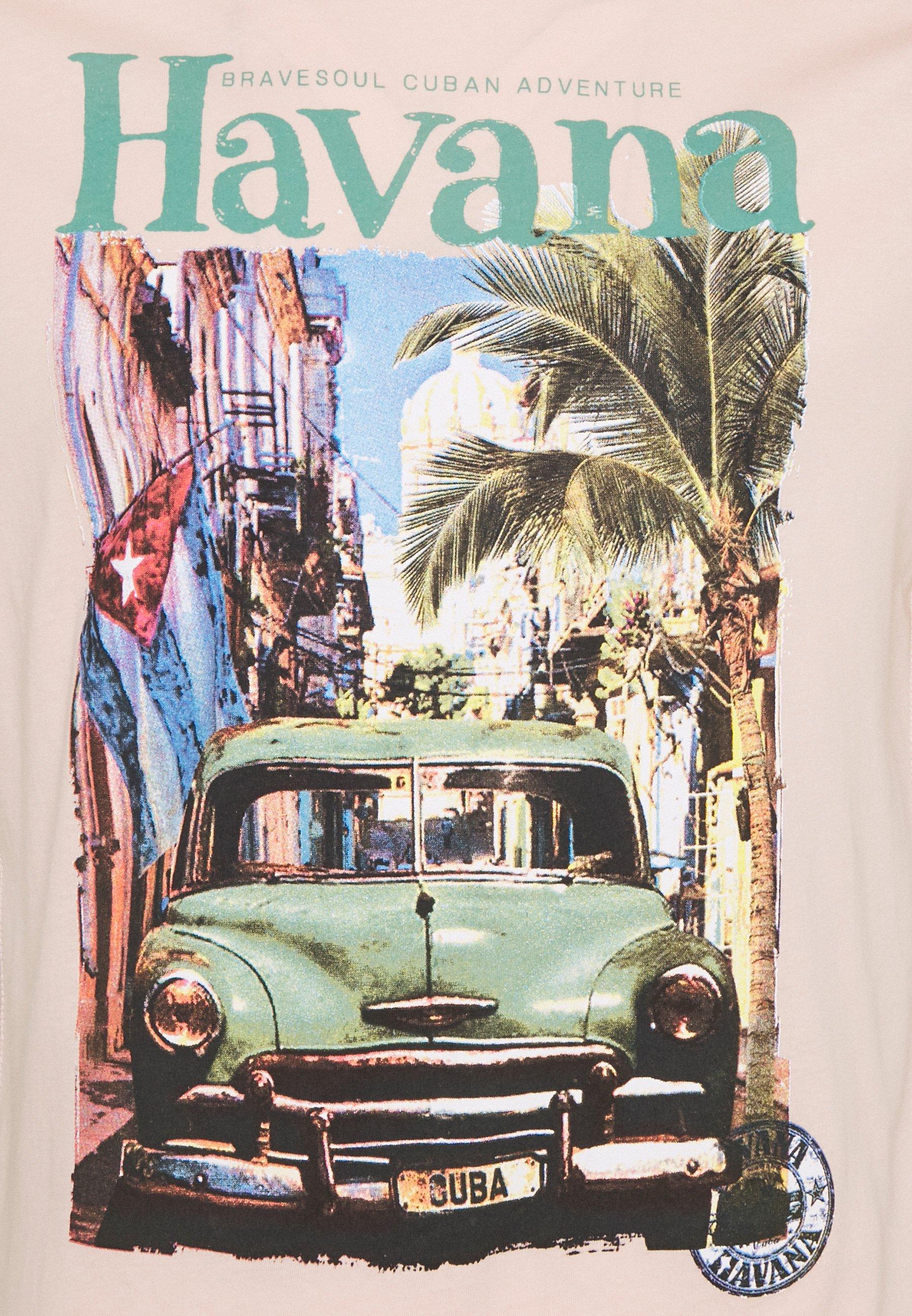 Brave Soul CAYOX - Print T-shirt - summer pink XfwZC