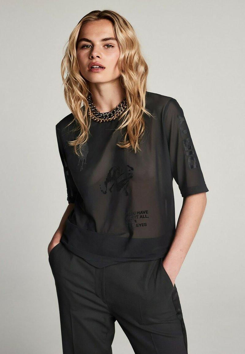 Zoe Karssen - T-shirt con stampa - black
