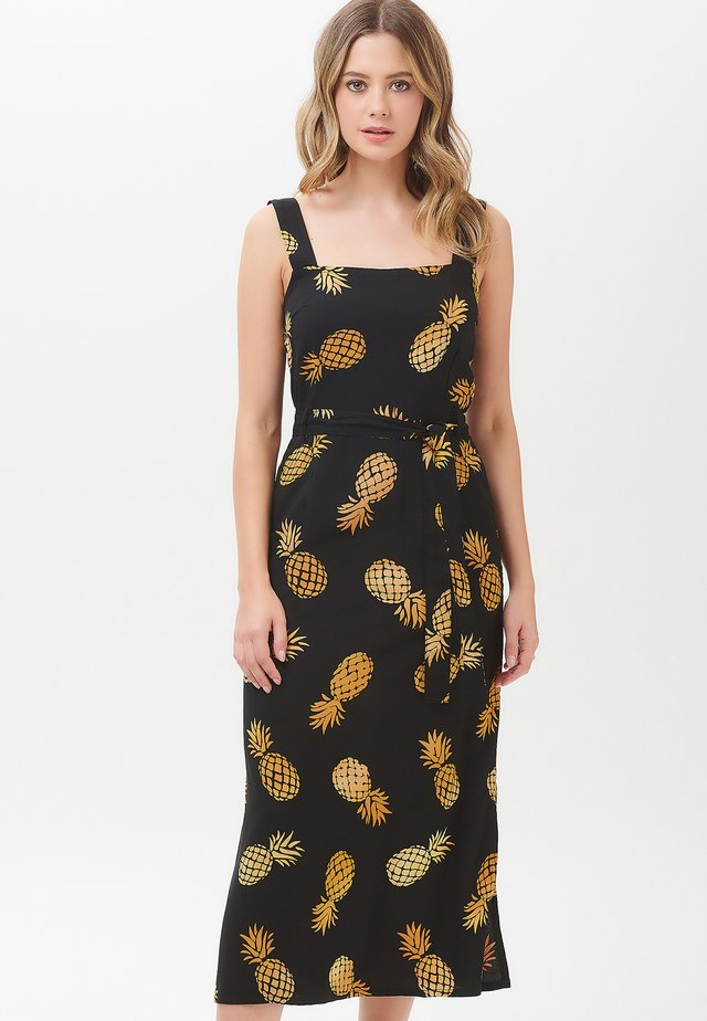 ELVA PINEAPPLE BATIK - Day dress - black