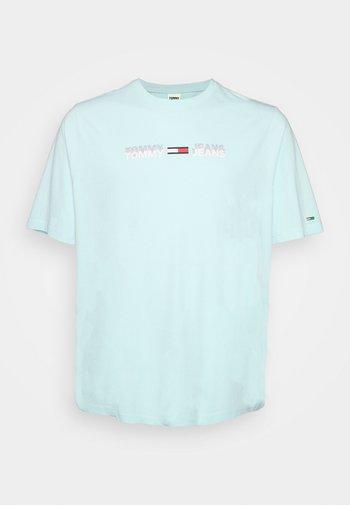 PLUS LINEAR LOGO TEE - Print T-shirt - aqua coast