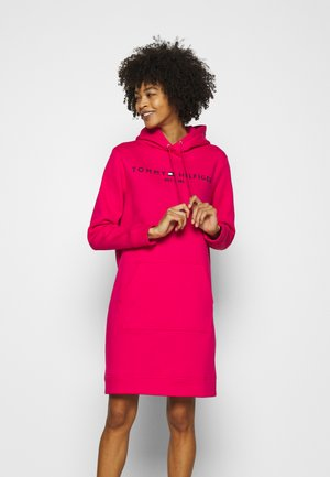 REGULAR HOODIE DRESS - Denní šaty - bright jewel