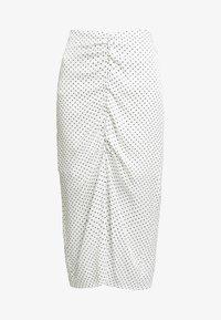 ALEXIS SKIRT - Falda de tubo - white/black