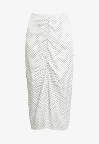 ALEXIS SKIRT - Pouzdrová sukně - white/black