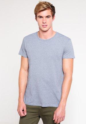 KRONOS STRIPE - T-shirt print - blue blue cream