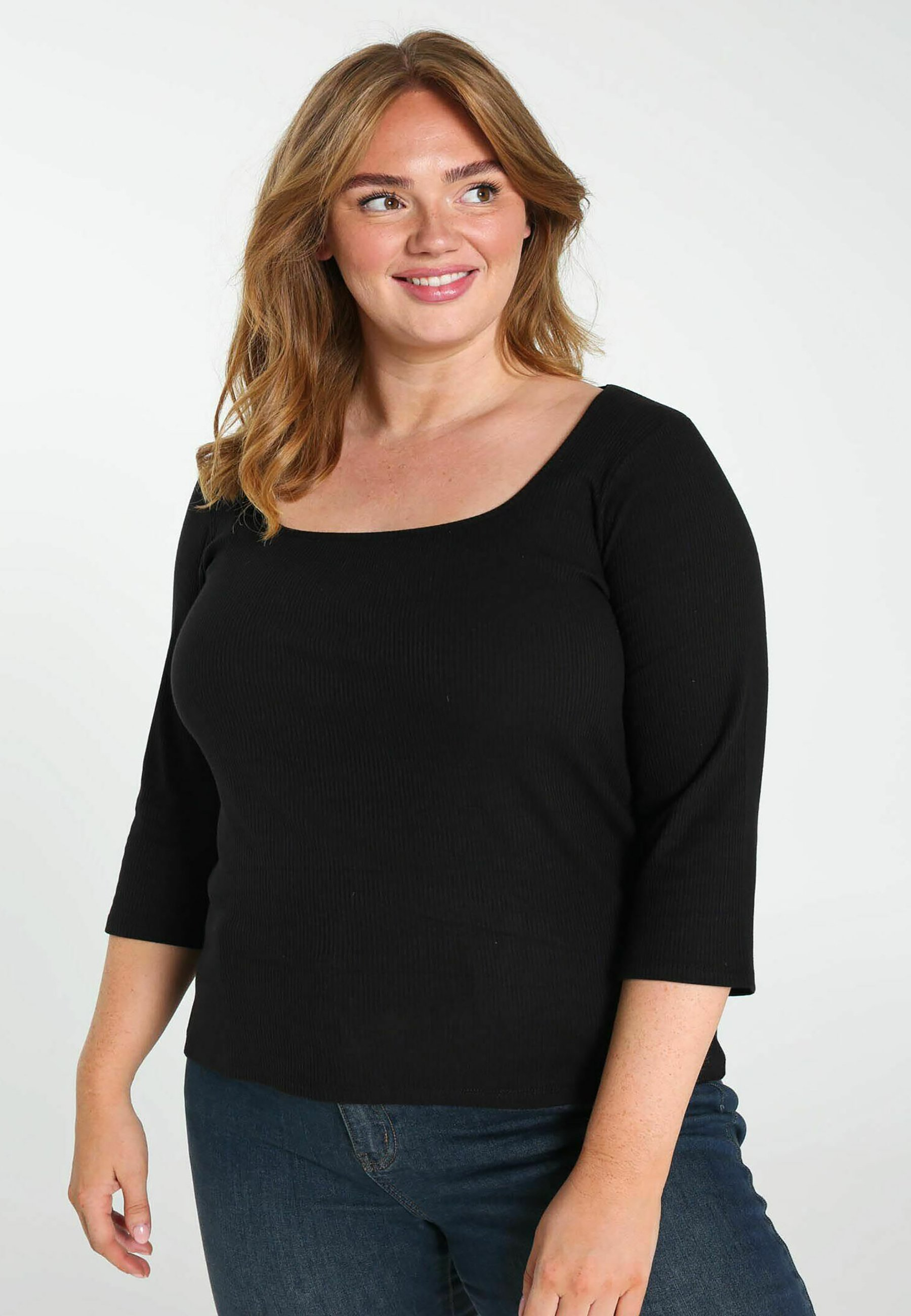Damen UNI EN MAILLE CÔTELÉE - Strickpullover