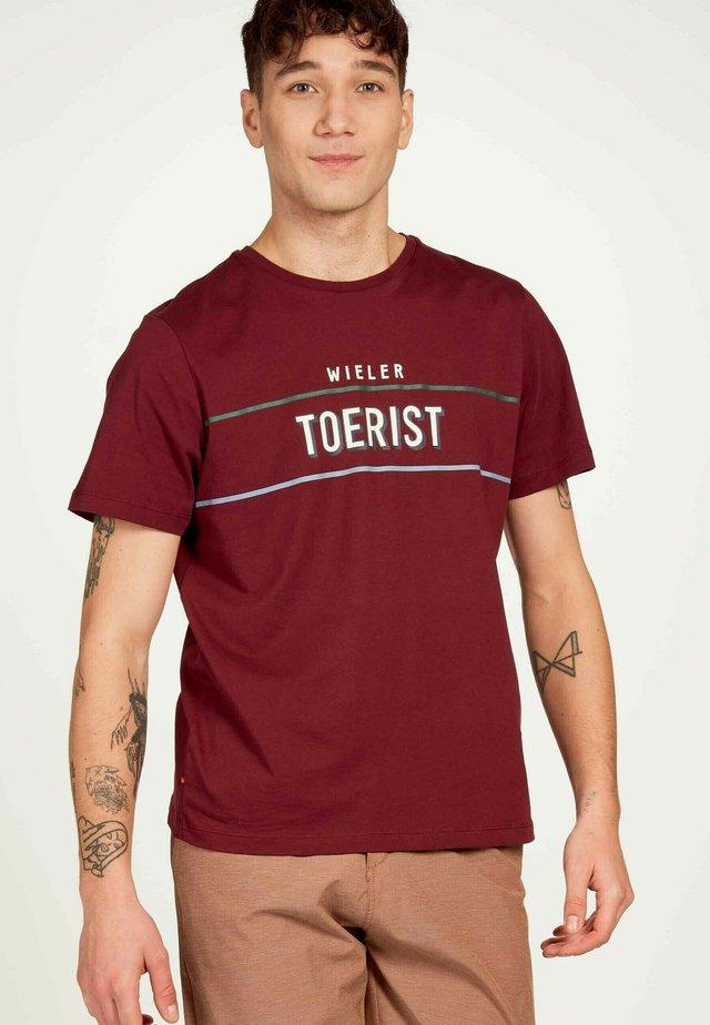 T-shirt imprimé - bordeaux