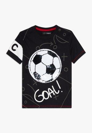 MANOLO - Print T-shirt - black