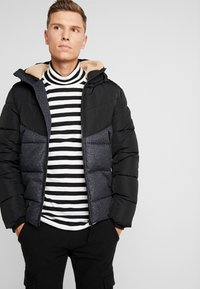 TOM TAILOR DENIM - HEAVY PUFFER JACKET - Winter jacket - grey - 0