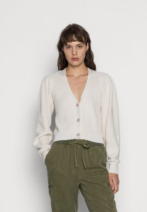 CROPPED BUTTON THROUGH CARDI - Vest - heather frost