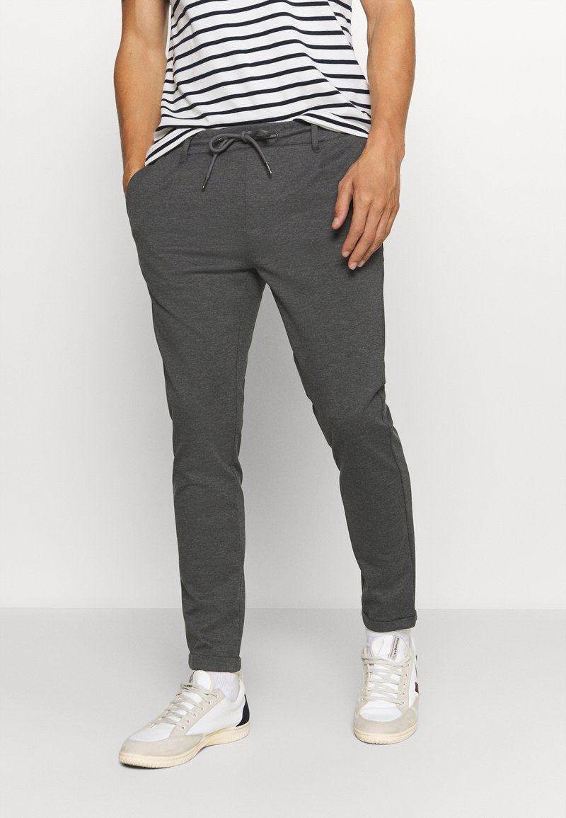 INDICODE JEANS - EBERLEIN - Trousers - charcoal