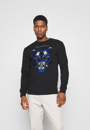 DEMON - Fleece jumper - black/ gold