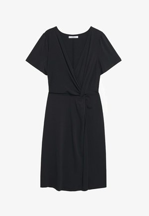 MIT KNOTENDETAIL - Denní šaty - schwarz