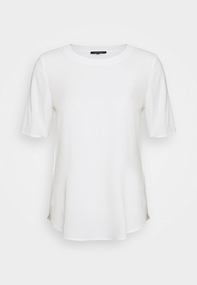 BLOUSE CREW NECK SHORT SLEEVED STYLE - Bluzka - off white