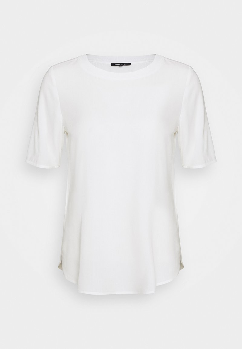 Marc O'Polo - BLOUSE CREW NECK SHORT SLEEVED STYLE - Blouse - off white