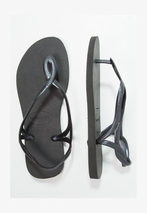 LUNA - T-bar sandals - black