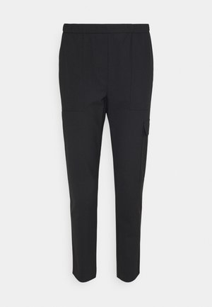 PANTS SMART MEDIUM RISE CROPPED ELASTIC IN WAISTBAND - Cargo trousers - black