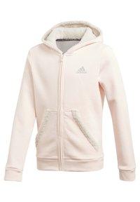 adidas Performance - MUST HAVES WINTER LOGO - Zip-up hoodie - pink - 1