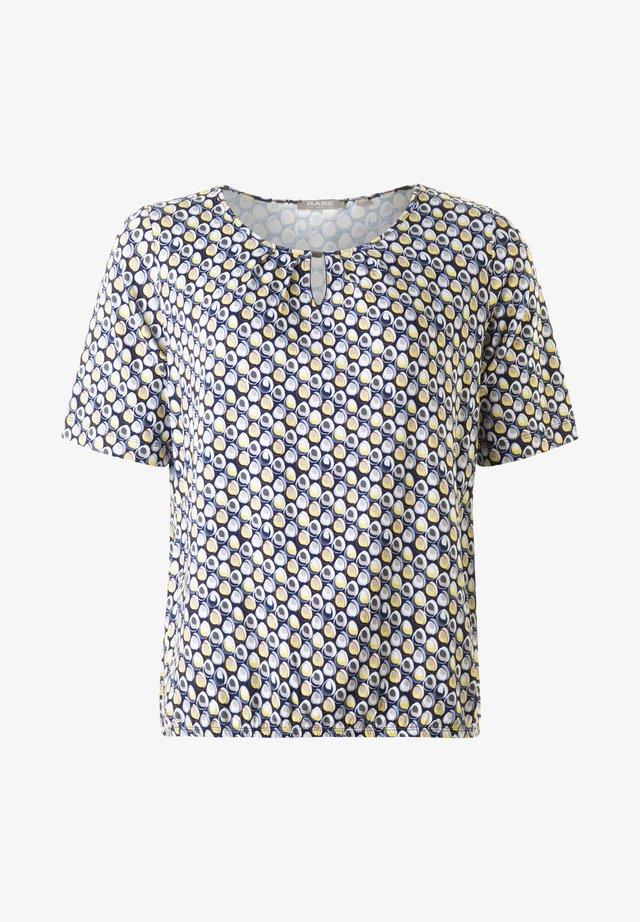 FREJA - T-shirt med print - deepocean