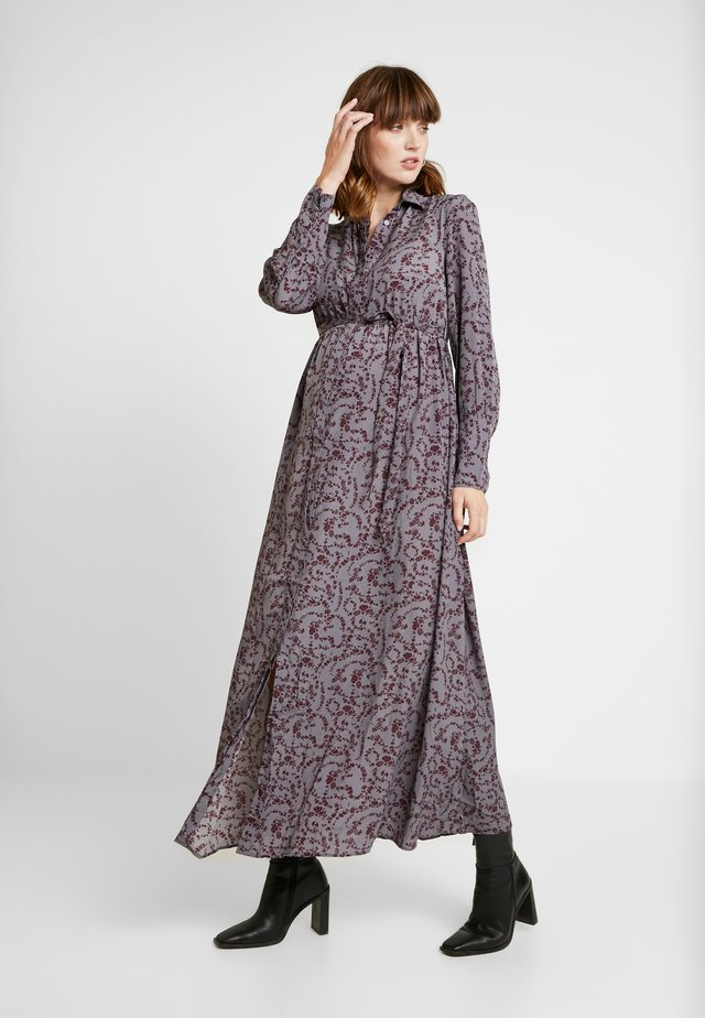DRESS - Maxi-jurk - burgundy winter ditsy