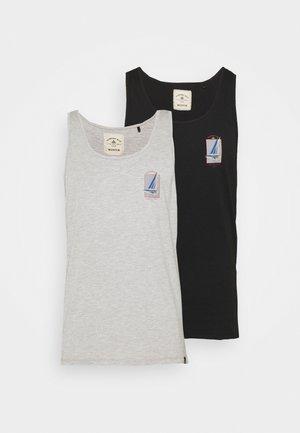 GRAPHIC 2PACK - Top - black/grey marl