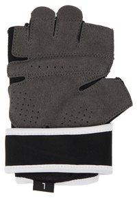 Nike Performance - GYM PREMIUM FITNESS GLOVES - Fingerhansker - black/white - 3