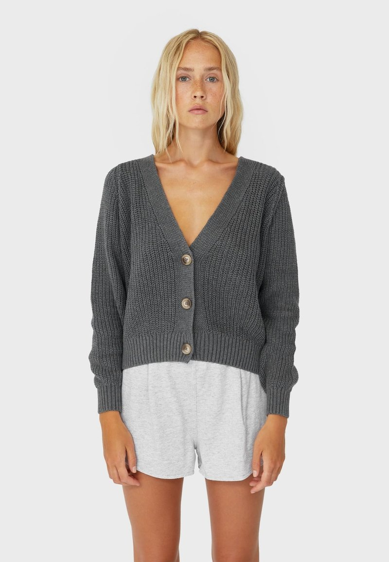 Stradivarius - Cardigan - dark grey