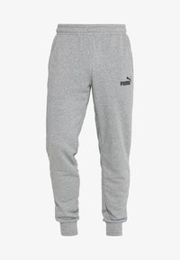 Puma - ESS LOGO PANTS - Tracksuit bottoms - medium gray heather - 3