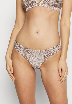 SERPENTINE HIPSTER - Bikini bottoms - chocolate