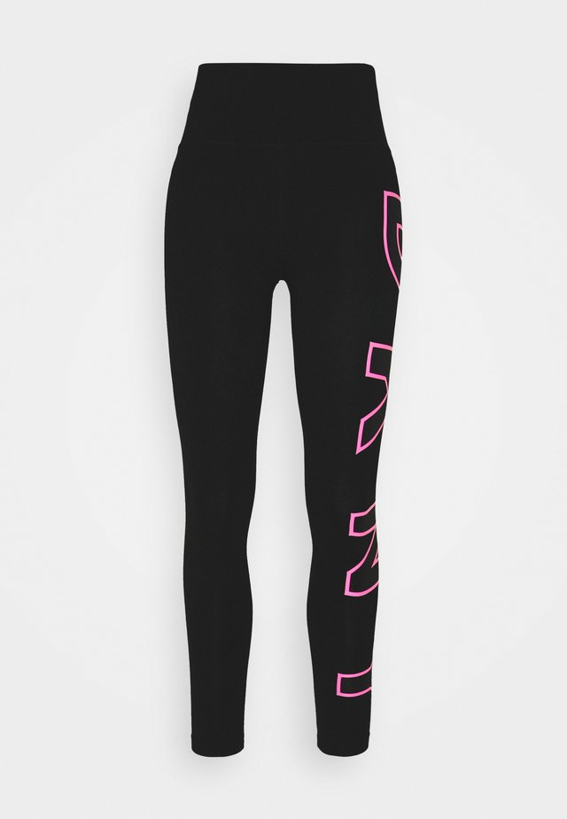 HIGH WAIST LONG LINE LOGO - Leggings - laser pink