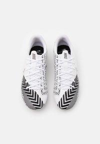 Nike Performance - MERCURIAL JR VAPOR 13 ACADEMY AG UNISEX - Moulded stud football boots - white/black - 3