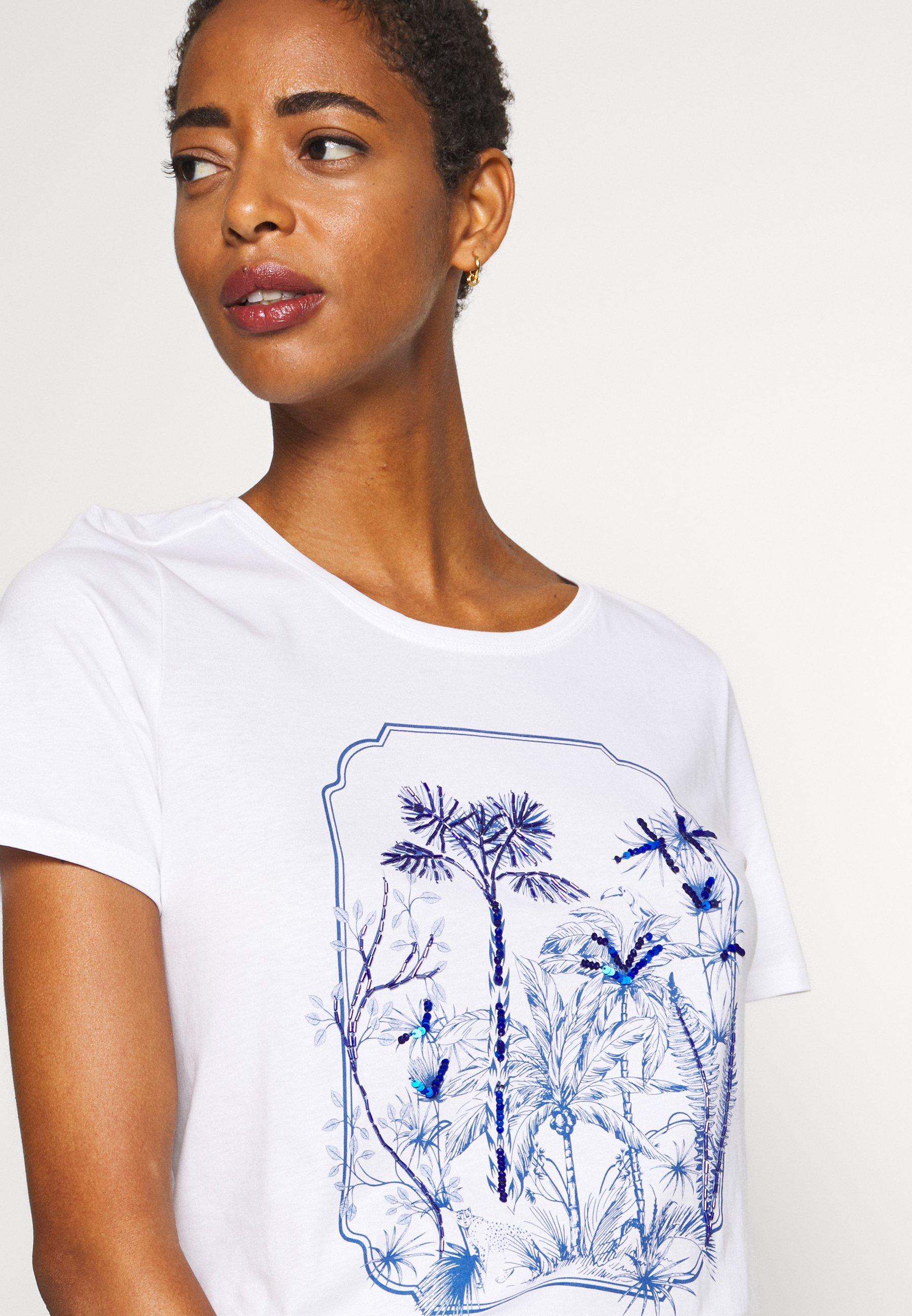 S.oliver T-shirts Med Print - White/hvit