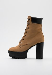 Even&Odd - High heeled ankle boots - sand - 1